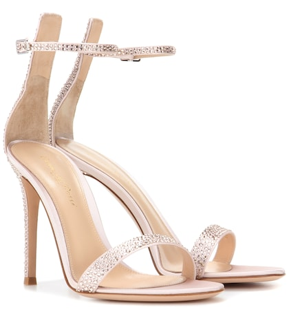 gianvito rossi female portofino embellished satin sandals