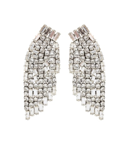 saint laurent female crystal clipon earrings
