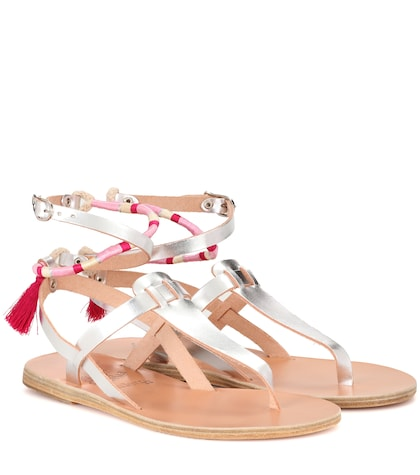 X Ancient Greek Sandals metallic leather sandals