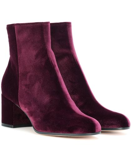 Margaux velvet ankle boots