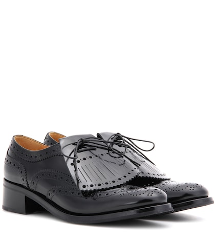 Costance Fringed Leather Derby Shoes