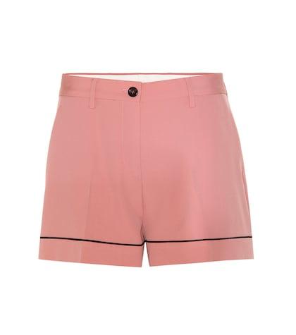 Wool-crêpe Shorts