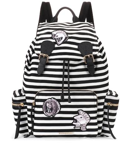 burberry female the medium rucksack striped backpack