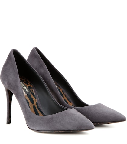 dolce gabbana female kate suede pumps