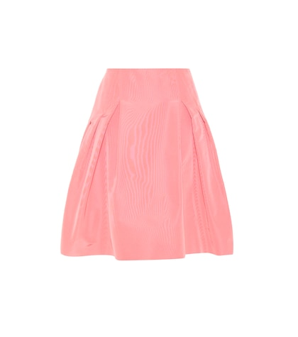 carolina herrera female party silk skirt