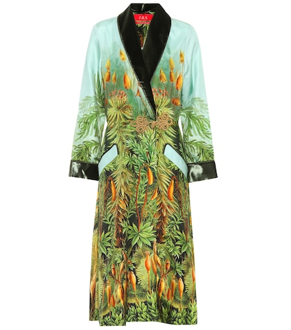 Patterned silk robe