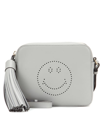 anya hindmarch female 45906 smiley leather crossbody bag