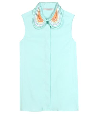 christopher kane female cottonblend blouse