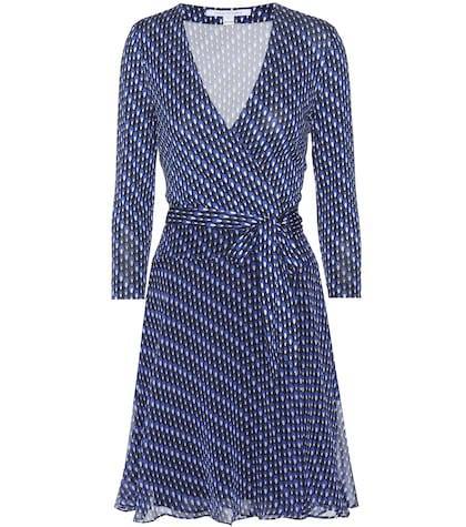 diane von furstenberg female irina printed silk dress