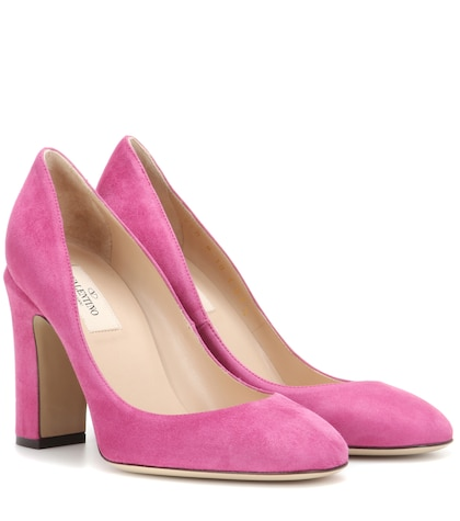 valentino female valentino garavani tango suede pumps
