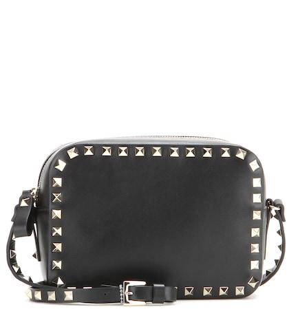 valentino female 188971 rockstud leather crossbody bag