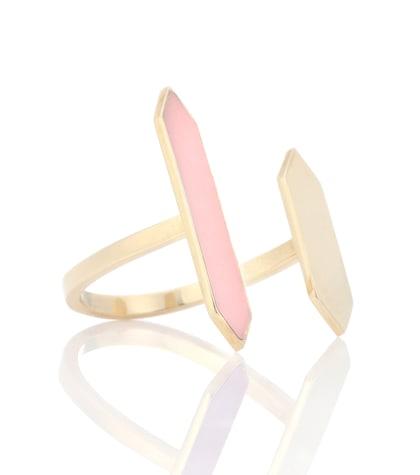 aliita female chromatic indicators b enamelled 9ct yellow gold ring