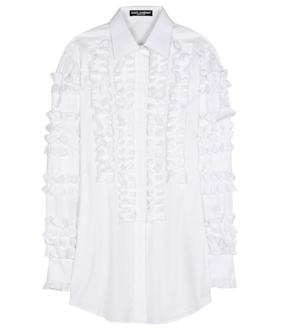 Ruffle cotton blouse