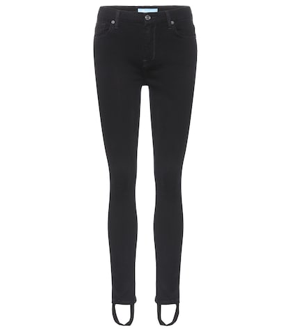 Pintuck Ankle skinny jeans