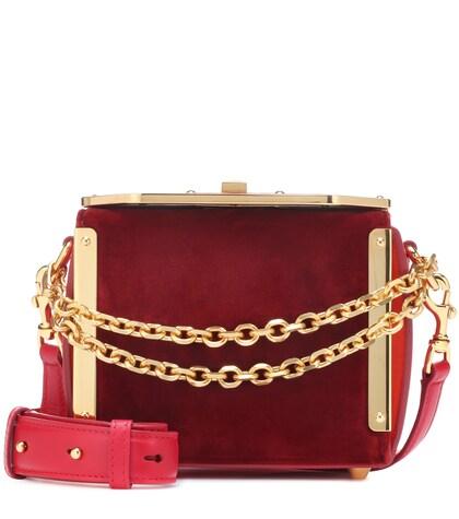 Box 16 velvet shoulder bag
