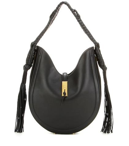 altuzarra female ghianda bullrope hobo leather shoulder bag