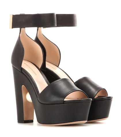 nicholas kirkwood female maya leather platform sandals