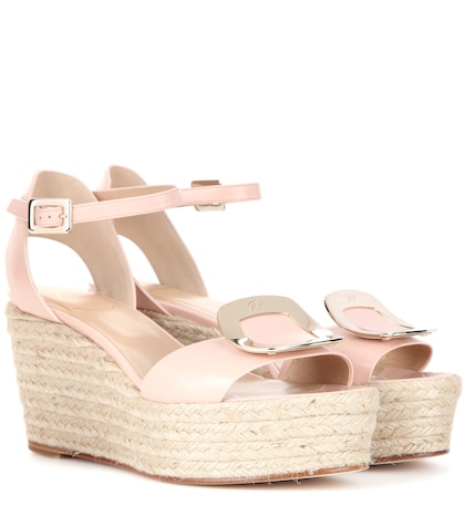 Corda Chips leather espadrille wedge sandals