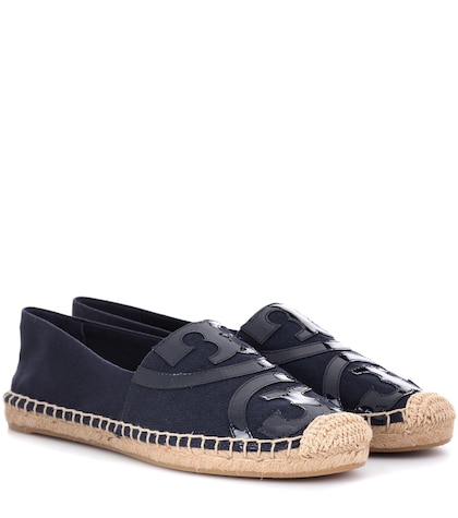 Poppy leather-trimmed espadrilles