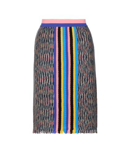 Knitted Wool-blend Skirt