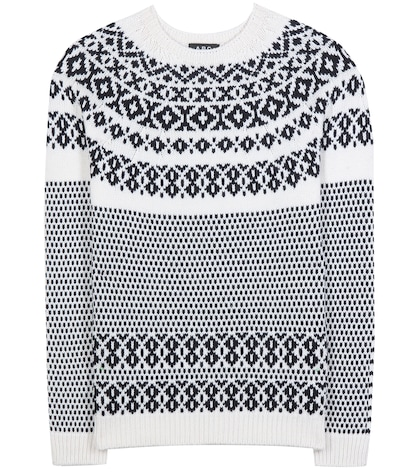 apc female wool and cotton sweater