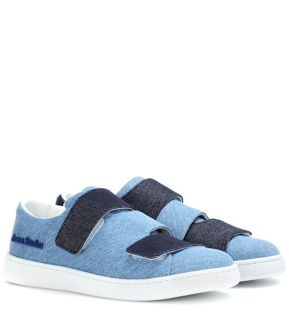 acne studios female triple denim sneakers