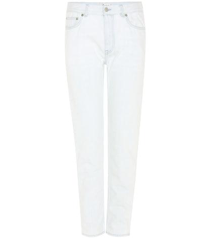 acne studios female boy blue midrise straightleg jeans