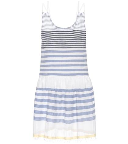 Assaman cotton-blend striped dress