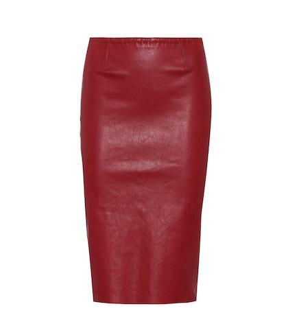 Gilda leather skirt