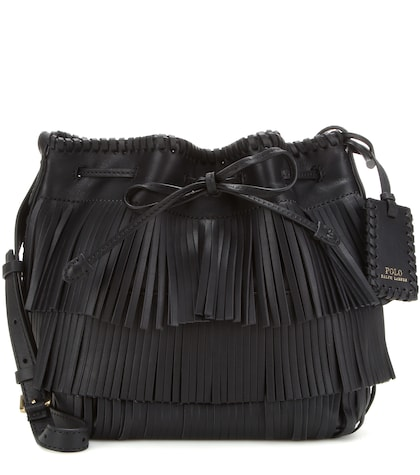 Fringed Leather Cross-body Bag