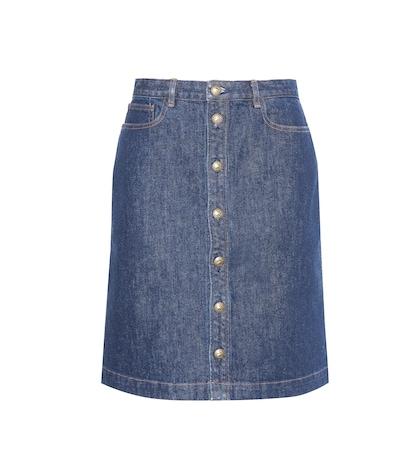 apc female 201920 denim skirt