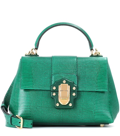 Lucia Small embossed leather shoulder bag