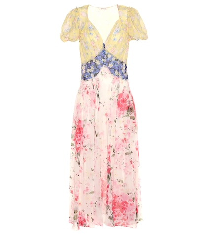 Natalia Floral-printed Silk Dress