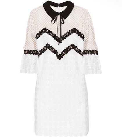 Petal lace mini dress