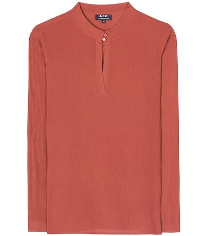 apc female brise silk blouse