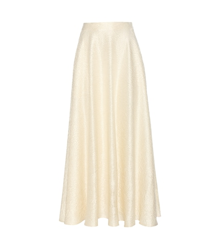 the row female lea woolblend cloque skirt