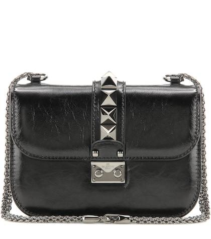 Lock Noir Small Leather Shoulder Bag