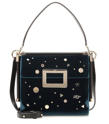 Miss Viv' Carré Small velvet shoulder bag