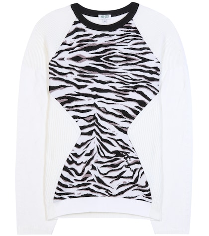 Tiger Stripes Metallic Wool-blend Sweater