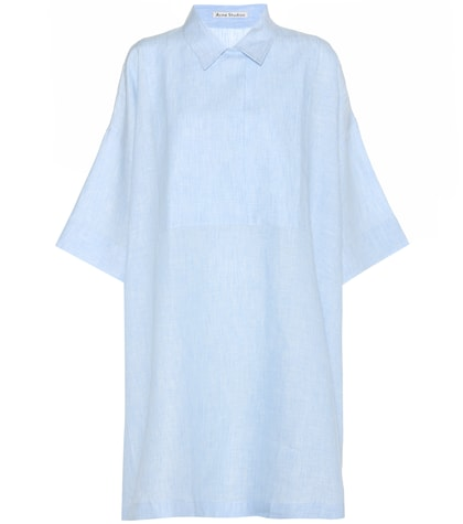 acne studios female sena cotton shirt dress