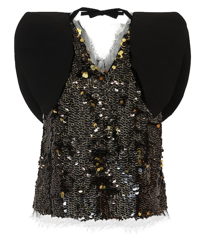 Riona sequinned top