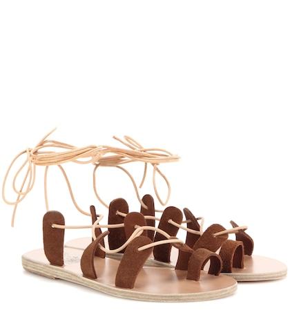 ancient greek sandals female alcyone suede sandals