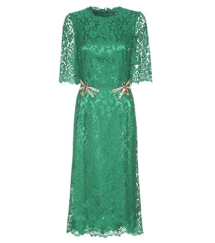 Crystal-embellished Lace Dress