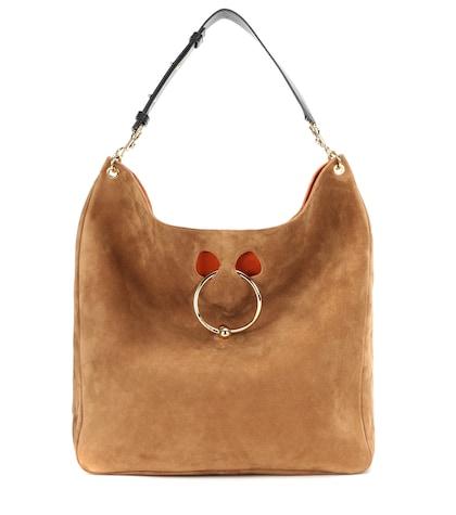 Pierce Hobo Large suede shoulder bag