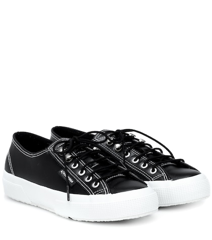 x SUPERGA® leather sneakers