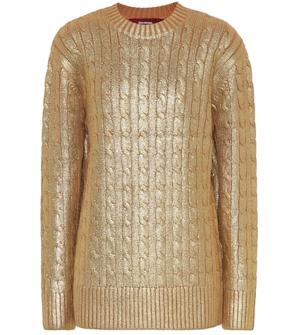 Metallic wool sweater