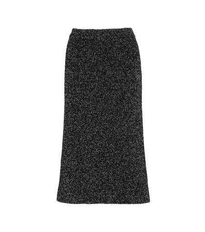 Cheryl Metallic Knitted Skirt