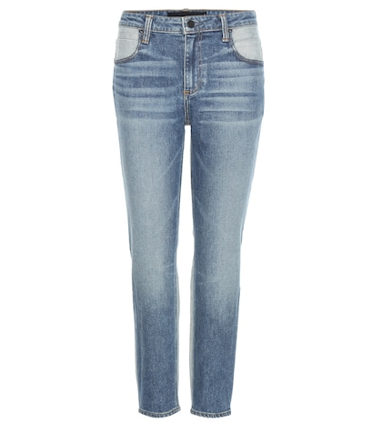 alexander wang female ride cropped jeans