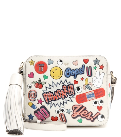 anya hindmarch female all over stickers leather shoulder bag