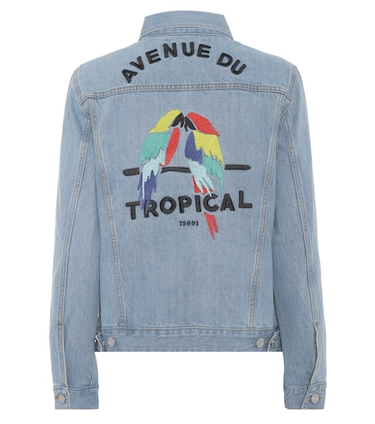 Tropical oversized denim jacket